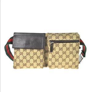 Authentic Gucci brown waist bag fanny pack bum bag